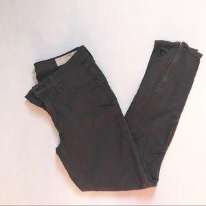Rag and Bone gray Capri zipper pants Sz 28